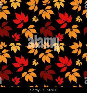 Résumé l'automne laisse un fond de motif sans couture. Illustration vectorielle EPS10 Banque D'Images