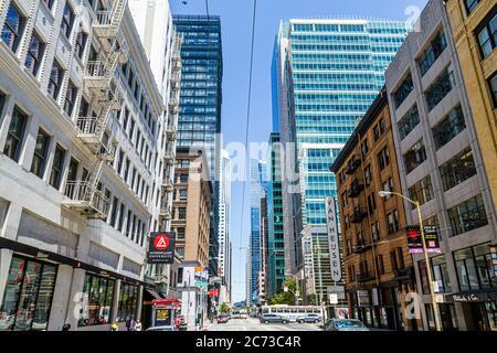 San Francisco California, Mission Street, centre-ville, scène de rue, immobilier commercial, de hautes élévations gratte-ciel gratte-ciel bâtiment bâtiments tour t