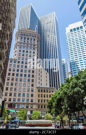 San Francisco California,2nd Street,at Market,Downtown,Street Scene,Hobart building,1914,Willis Polk,architecture de renouveau classique,commercial Real es