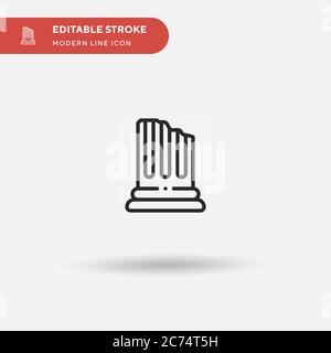 Icône de vecteur simple de colonne. Modèle de conception de symbole d'illustration pour l'élément d'interface utilisateur Web mobile. Pictogramme moderne de couleur parfaite sur contour modifiable. Icônes de colonne pour votre projet d'entreprise Banque D'Images