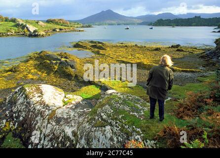 Entrée de la rivière Kenmare près de Ardgroom sur l'anneau de Beara, comté de Kerry, sud-ouest de l'Irlande