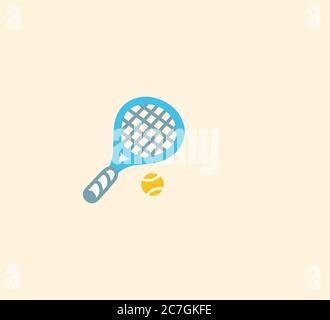 Illustration d'icône isolée de vecteur de tennis. Illustration de l'icône tennis Banque D'Images