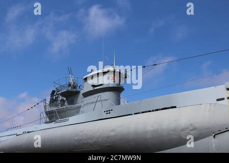 Sous-marin de type VIIC/41 U-995 exposé à Laboe, S-H, Allemagne, au Mémorial naval de Laboe Banque D'Images