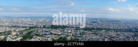 Paris : paysage urbain haute résolution, de l'Hôtel des Invalides au Palais Royal.