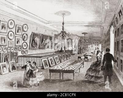 La galerie de photographies de Mathew Brady se trouve à l'angle de Broadway et de Tenth Street, New York. Mathew Brady, 1822 -1896, célèbre pour sa guerre civile et sa photographie de portrait. Après une illustration par un artiste non identifié dans l'édition du 5 janvier 1861 du journal illustré de Frank Leslie.