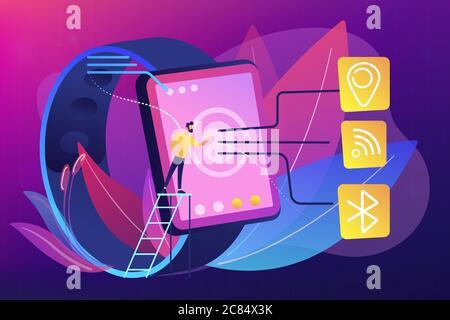 Illustration du vecteur de concept de connectivité sans fil.