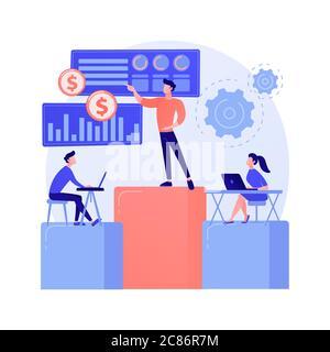 Métaphore du concept de vecteur de réunion d'affaires
