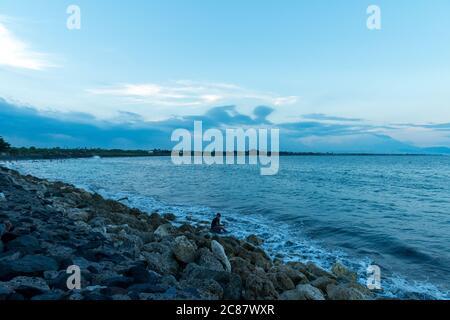 Mer à la plage de Sanur Banque D'Images