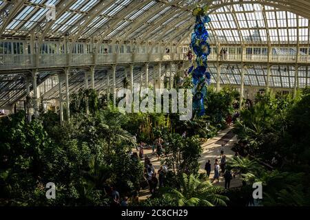 Serre dans les jardins botaniques royaux de Kew.