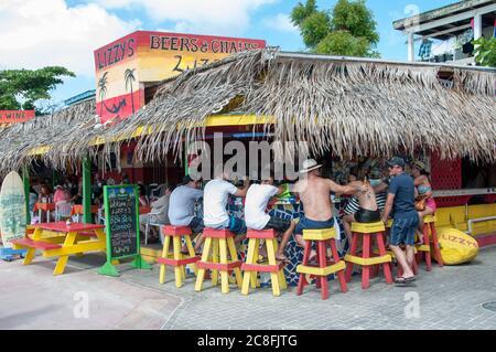 L'île de St Martin aux Caraïbes. Banque D'Images