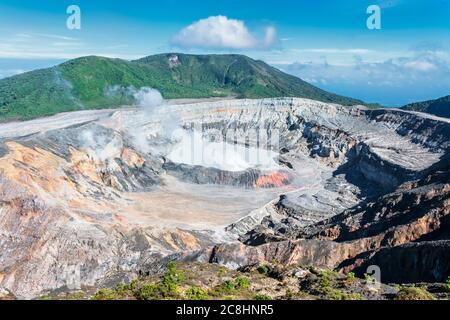 Volcan POA, Parc national Poas, Costa Rica, Amérique centrale