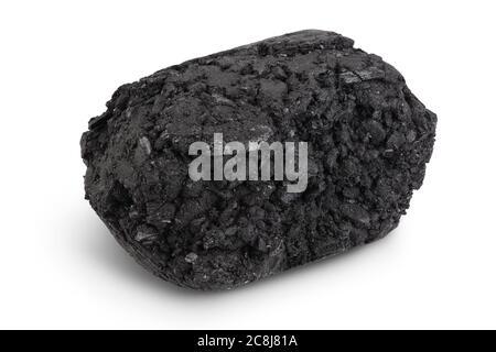 briquettes de charbon de bois bbq isolées sur fond blanc avec chemin de coupure et pleine profondeur de champ Banque D'Images