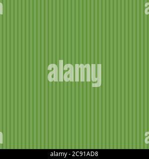Arrière-plan de pelouse abstrait. Motif à rayures vert vectoriel sans couture. Surface moderne d'été avec lignes verticales Banque D'Images