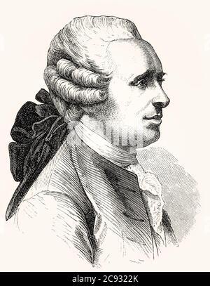 Jean-Baptiste le rond d'Alembert, 1717–1783, mathématicien, physicien et philosophe français Banque D'Images