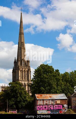 Église paroissiale St Mary Redcliffe, Bristol, Angleterre. Juillet 2020