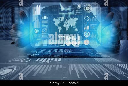 Concept de financement de la technologie Big Data pour les entreprises.