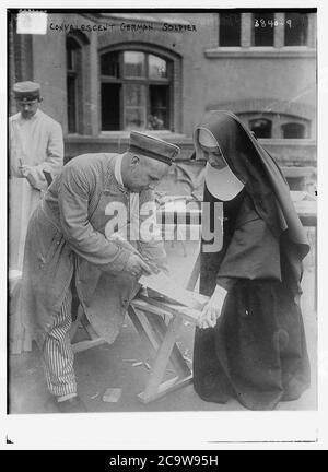 Soldat allemand convalescent .