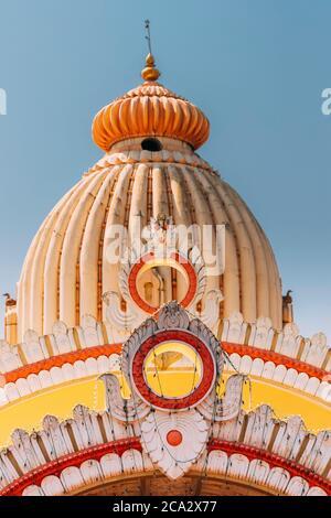 Mapusa, Goa, Inde. Le Shree Ganesh Mandir, Temple Ganeshpuri. Site d'intérêt célèbre et destination populaire. Détails de gros plan.