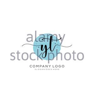 Logo YT écriture initiale Banque D'Images