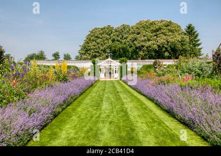 Le jardin clos de Houghton Hall, Norfolk. Banque D'Images