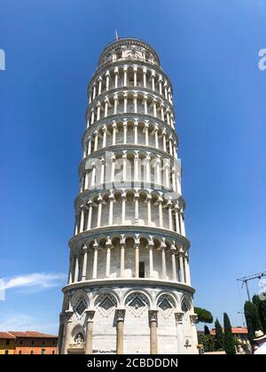 Tour historique de Pise à la Piazza del Duomo, 56126 Pisa PI, Italie. Mise au point sélective . Banque D'Images