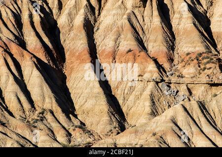 Formations rocheuses, Badlands de Bardenas Reales, Navarre, Espagne