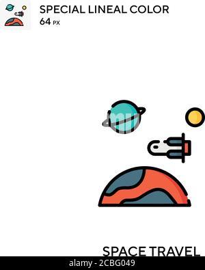 Icône de vecteur simple de voyage dans l'espace. Icônes de voyage dans l'espace pour votre projet d'entreprise Banque D'Images