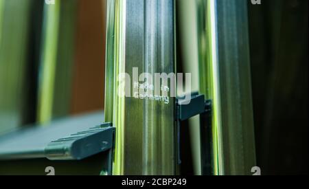 Gravé avec un gros plan laser macro-signe fabriqué en Allemagne produit en acier aluminium - produit de qualité professionnelle