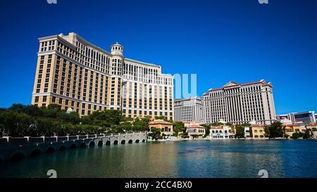 Las Vegas,NV/USA - septembre 16,2018 : Voir les hôtels et le casino Bellagio à Las Vegas, Etats-Unis. Las Vegas est l'une des destinations touristiques les plus populaires au monde.