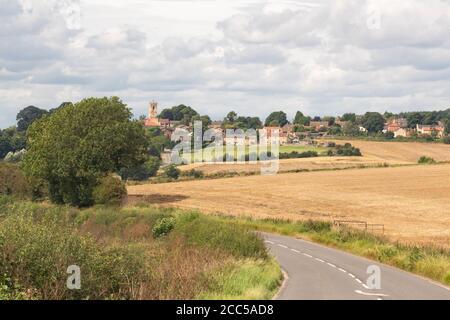 Village de Barnburgh, Doncaster, Yorkshire du Sud, Angleterre, Royaume-Uni - vue de Ludwell Hill