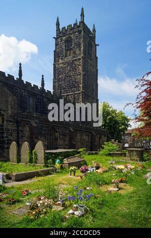 Royaume-Uni, Yorkshire du Sud, Barnsley, Penistone, Église Saint-Jean-Baptiste