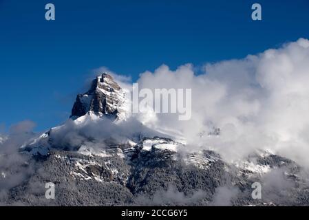 France, haute Savoie, Alpes, aiguilles de Varan (aiguille rouge 2636m) Banque D'Images