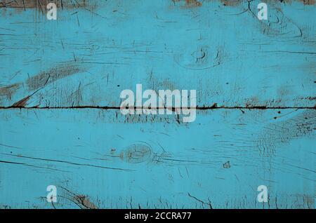 Texture en bois bleu, vue sur le dessus de la table en bois. Gros plan sur un fond de mur rustique coloré, texture de la table supérieure ancienne, arrière-plan grunge
