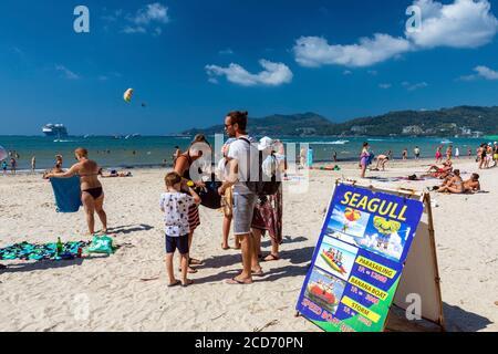 Activités aquatiques et location sur la plage de Patong, Phuket, Thaïlande