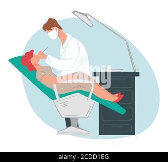 Soins dentaires, chirurgie dentaire et patient à la stomatologie