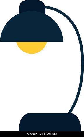 icône de lampe de bureau sur fond blanc, illustration vectorielle de style plat