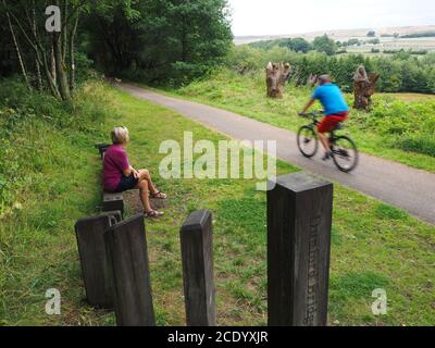 The Trans Pennine cycle Trail, Barnsley, South Yorkshire, Royaume-Uni Banque D'Images