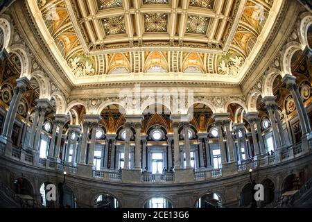 Peinture au plafond du Capitole des États-Unis (Capitole des États-Unis)