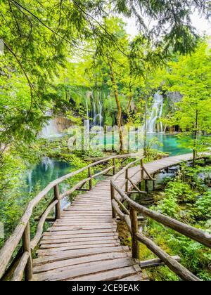 Comme les terres de rêve parc national des lacs de Plitvice en Croatie Europe eau coulant cascade pittoresque incroyable