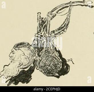 . Les types de Paris. Il suit le train, (pii dénigait à tout vapeur. Puis, il iail un [;raiid gested insurance. « Rentrons Diner, dit-il. La mère Gidoux a mis nn(> poule... .le you disaisilnne hier soii- (jui^ 1 on ne jieut pas toujours rej>ri)(hiie la iiiti... — Crétin! Crie Chaml&gt ; orel. — Idiot! Hurle Bernicard.et la discussion recommence, dans le cré-pnscule iiiui tnudx sur les champs mélancoli(|nes. Banque D'Images