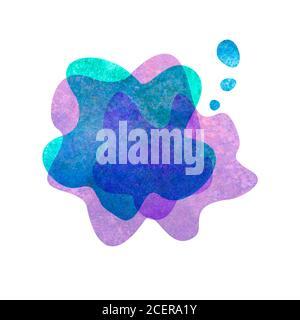 Aquarelle abstrait moderne plat géométrique transparent formes liquides. Modèle peint à la main aquarelle pour texte, logo, prospectus ou présentation