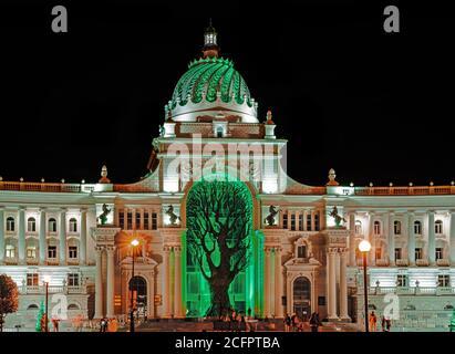Palais des agriculteurs de Kazan. Bâtiment du Ministère de l'agriculture. Vue de nuit.