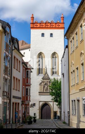 Bautzen, Saxe / Allemagne - 7 septembre 2020 : vue sur la vieille ville historique de Bautzen avec ses nombreuses portes