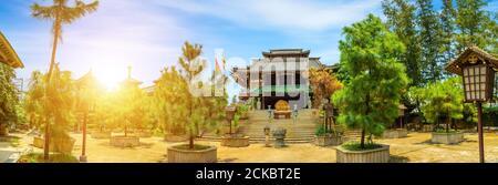 Magnifique paysage au soleil de Khanh an Pagode, Ho Chi Minh ville, Vietnam - petit Japon à Saigon. Concept de voyage et de paysage. Texte dans la photo