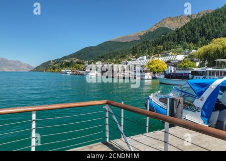 Queenstown, Lac Wakatipu, Otago, Île du Sud, Nouvelle-Zélande, Pacifique