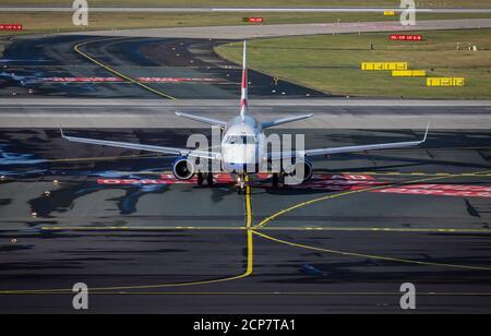 Düsseldorf, Rhénanie-du-Nord-Westphalie, Allemagne - avion British Airways, aéroport international de Düsseldorf, DUS