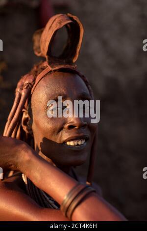 Une femme Himba de Namibie.
