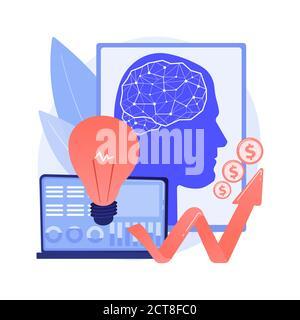 L'intelligence artificielle dans le financement de l'illustration abstraite du vecteur du concept. Banque D'Images