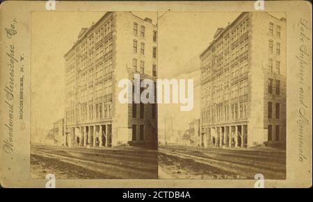 Palais de justice, St. Paul, Minn., image fixe, stéréographes, 1850 - 1930 Banque D'Images