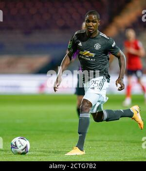 Luton, Royaume-Uni. 07e juillet 2020. Odion Ighalo de Manchester United (25) lors du match de la Carabao Cup entre Luton Town et Manchester United à huis clos à Kenilworth Road, Luton, en Angleterre, le 22 septembre 2020. Photo de David Horn. Crédit : Prime Media Images/Alamy Live News Banque D'Images